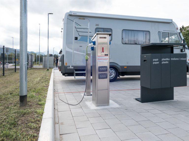 pza stebrički, pza oprema, terminali za avtodomove, pza parkirišče, parkirišče za avtodome